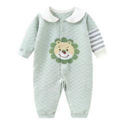 婴儿哈衣 加厚卡通狮哈衣