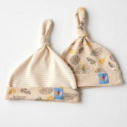 婴儿帽子 彩棉帽子