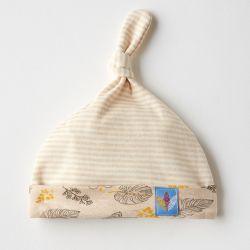 明净条纹彩棉帽