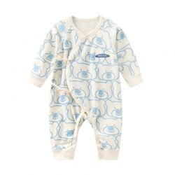 婴儿哈衣 四季有标蓝熊