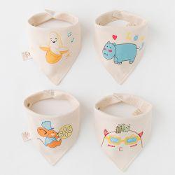 彩棉三角巾 (4条装)