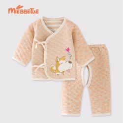 婴儿套装 加厚小花犬套装