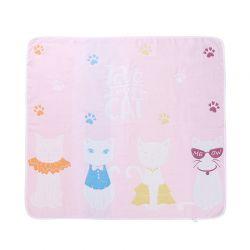 粉色猫咪浴巾